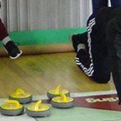 В Ачинске впервые прошёл турнир по напольному кёрлингу